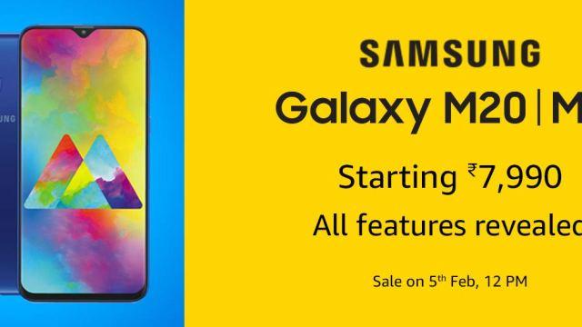 Samsung เปิดตัว Galaxy M10 และ M20 จอ Infinity-V ติดกล้องมุมกว้าง