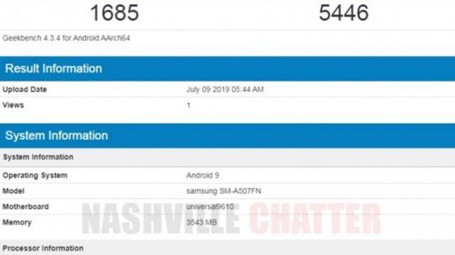 Geekbench ผุดสเปค Samsung Galaxy A50s คาดเปิดตัวเร็วๆนี้