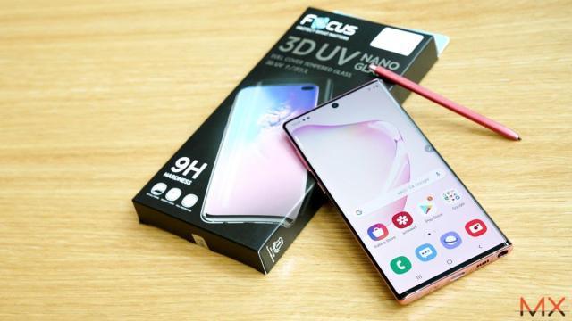 Focus 3D UV Nano Glass กระจกกันรอยกาวยูวี ไม่เว้นรูเซ็นเซอร์ สำหรับ Galaxy Note10 / Note10+