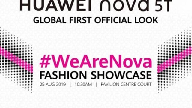 ยืนยัน Huawei nova 5T พร้อมเปิดตัววันที่ 25 สิงหาคมนี้