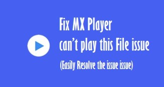 MX Player can't play