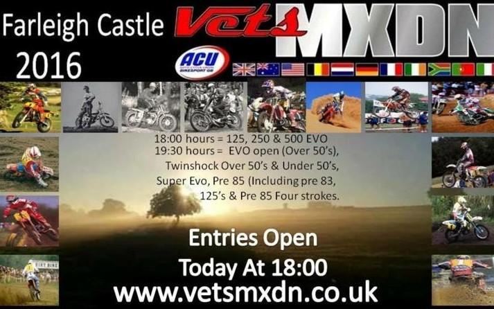 Inschrijvingen Vets MXdN open.