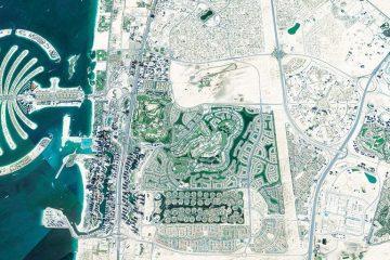 Vue de google earth pro de la ville de Bubaï qui sert de base au travail artistique de aNa pour un protocole de développement du territoire pour mairies, officies de tourisme