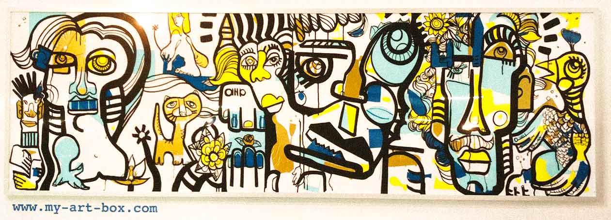 Tube néon aNa My Art Box Graffiti commun Team Building Fresque Paris