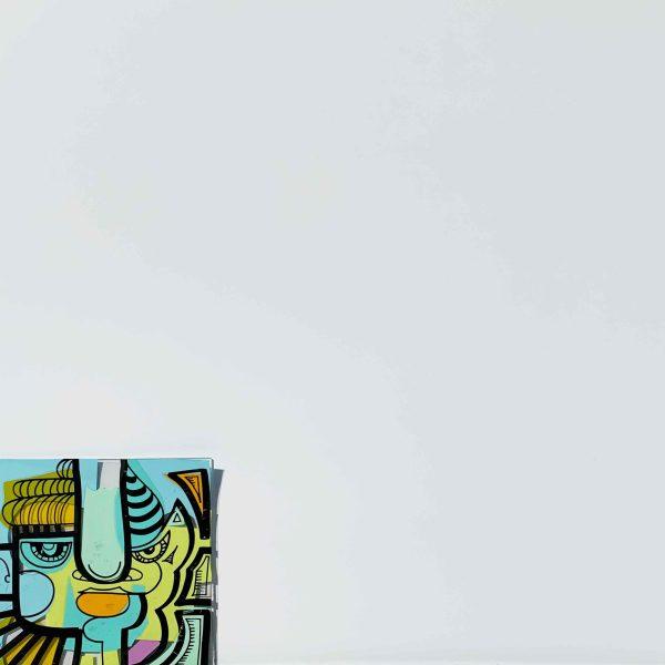 première pièce de plexi colorée de l'animation créative confinement télétravail my art box