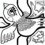 oiseau dessiné par aNa artiste pour série de sticker adhésif my art box pour puzzle décoratif et team building