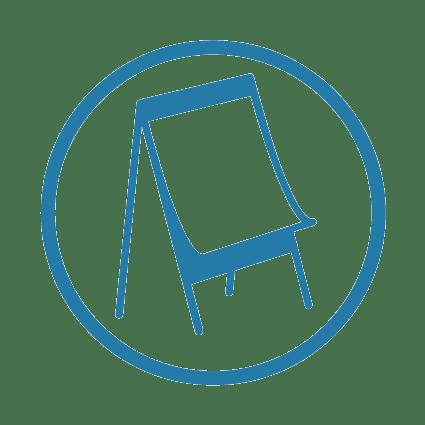 idée team building créatif : image dessinée et schématique d'un paper board pour exprimer l'idée du brainstorming en entreprise