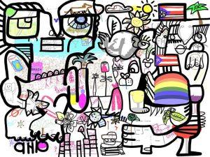 Fresque Télétravail – Activité œuvre commune digitale – Time Lapse souvenir – Animation Réunion Séminaire Team Building à distance pour construire ensemble et partager – Verbalisation.