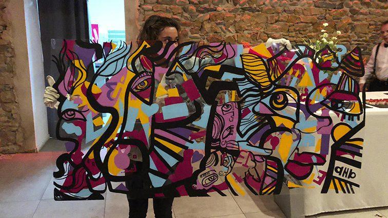 idée d'animation fresque pour animation anniversaire d'entreprise à Lyon