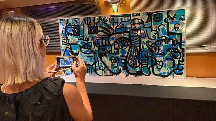 exposition d'une Fresque team building Lyon par aNa artiste