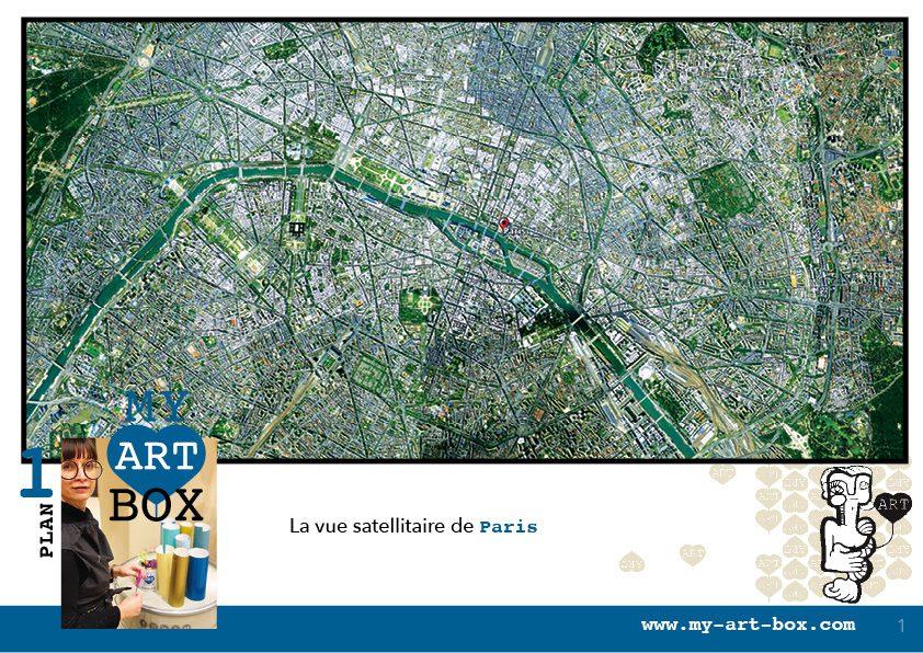 idée d'animation Team building fresque à partir du plan de Paris ou de votre propre Ville par aNa artiste et My Art Box