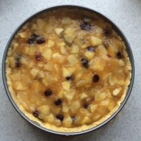Apfelpudding-Kuchen