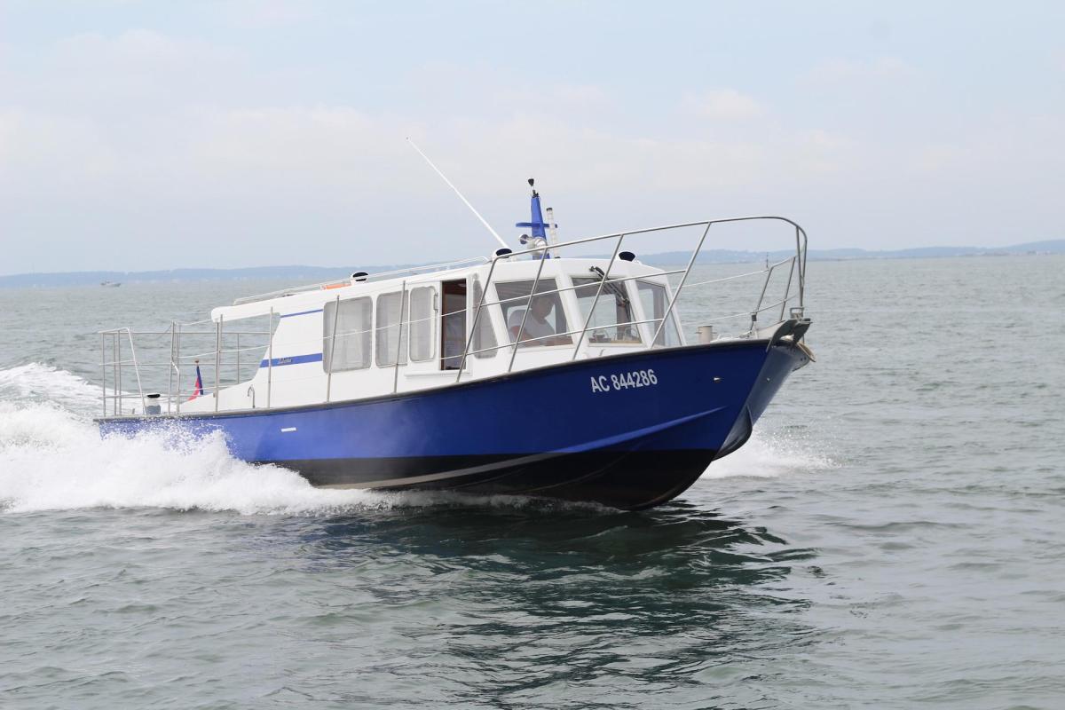 Balade en bateau au Cap Ferret avec la société les Vedettes du Bassin