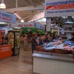 Poissonnerie au marché couvert du Cap Ferret