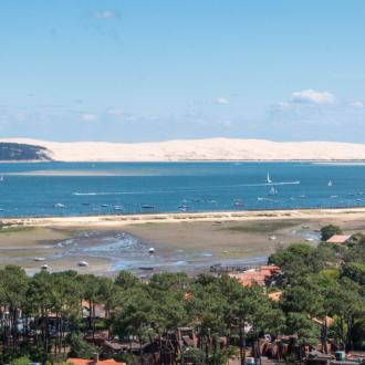 Panorama sur le Bassin d'Arcachon depuis le phare du Cap Ferret