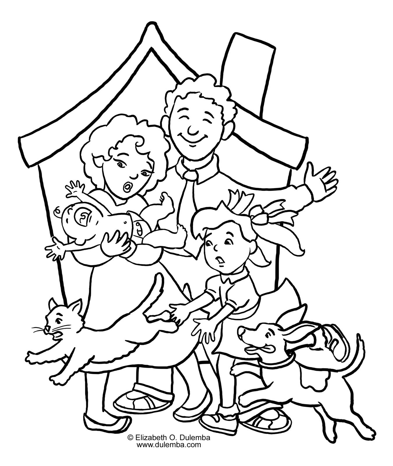Coloring Pages Family