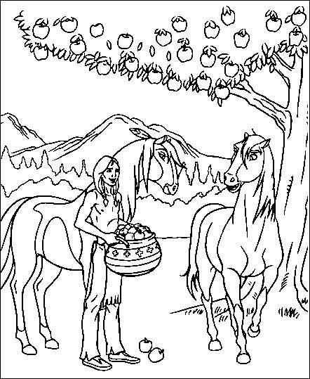 coloring pages spirit the wild horse  picture 6