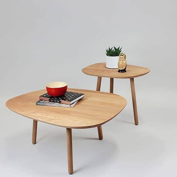 grand salon table basse chene massif design eco responsable