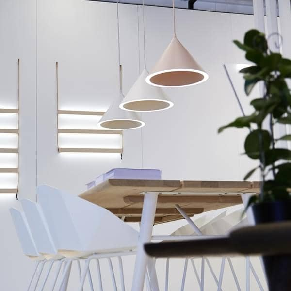 annular pendant lamp a perfect circle of light registered on the conical perimeter lighting leds nude xl 238 mm h x 320 mm diameter