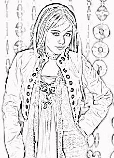 hannah montana coloring pages # 8