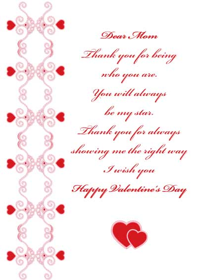 valentine day message from mom to son - Valentines Day Card For Mom