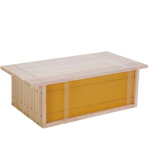 Spaarkast Honingkamerramen gemonteerd met kunstraat – per 10