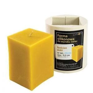 Lyson kaarsen gietvorm - Lage kubus - hoogte 9.5 cm [FS153]