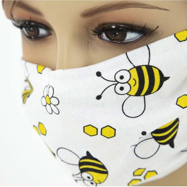 Mondkapje met bijen – herbruikbaar