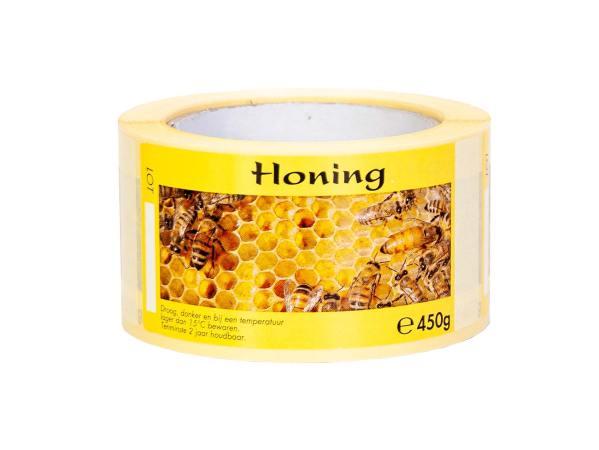Honingetiketten cellenmotief zelfklevend 450 gram – per 250