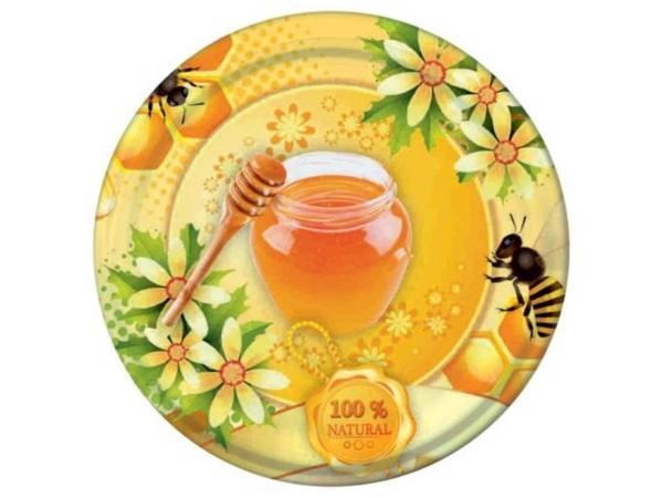 Deksel honingpot met bij - toc 82 mm