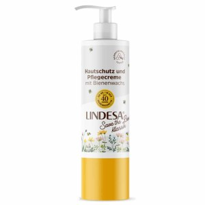 Lindesa ® Classic handcrème met dispenser - Safe the Bees - 300 ml