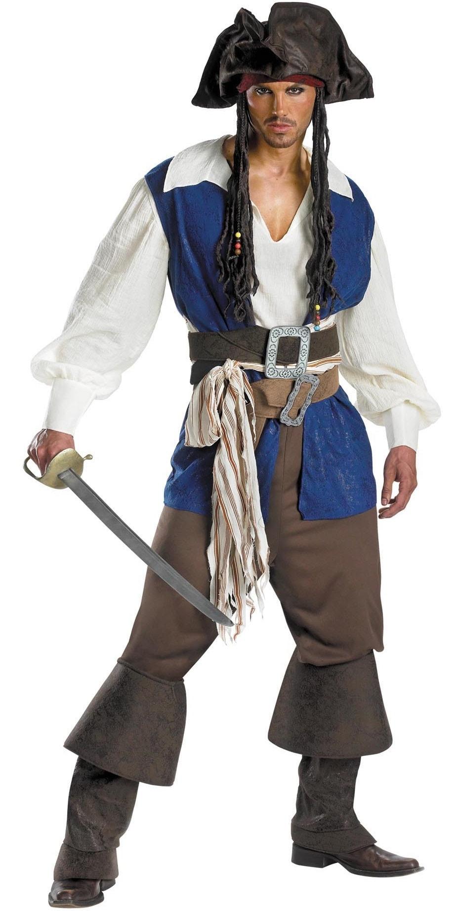 Костюм пират Джек Воробей deluxe взрослый d5035 купить в ...