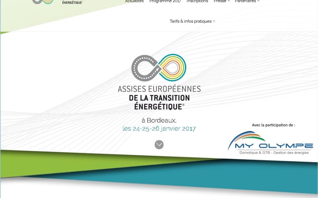 Assises européennes transition énergétique : Bordeaux 24 -26/01/17