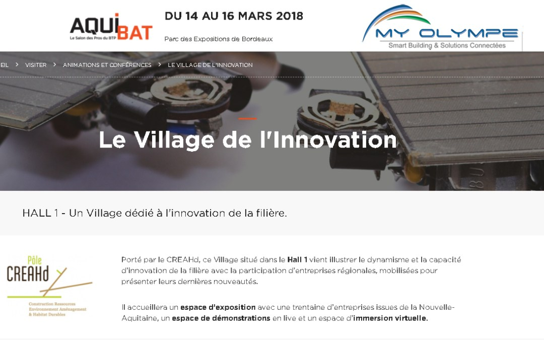 AQUIBAT : Le village de l'innovation