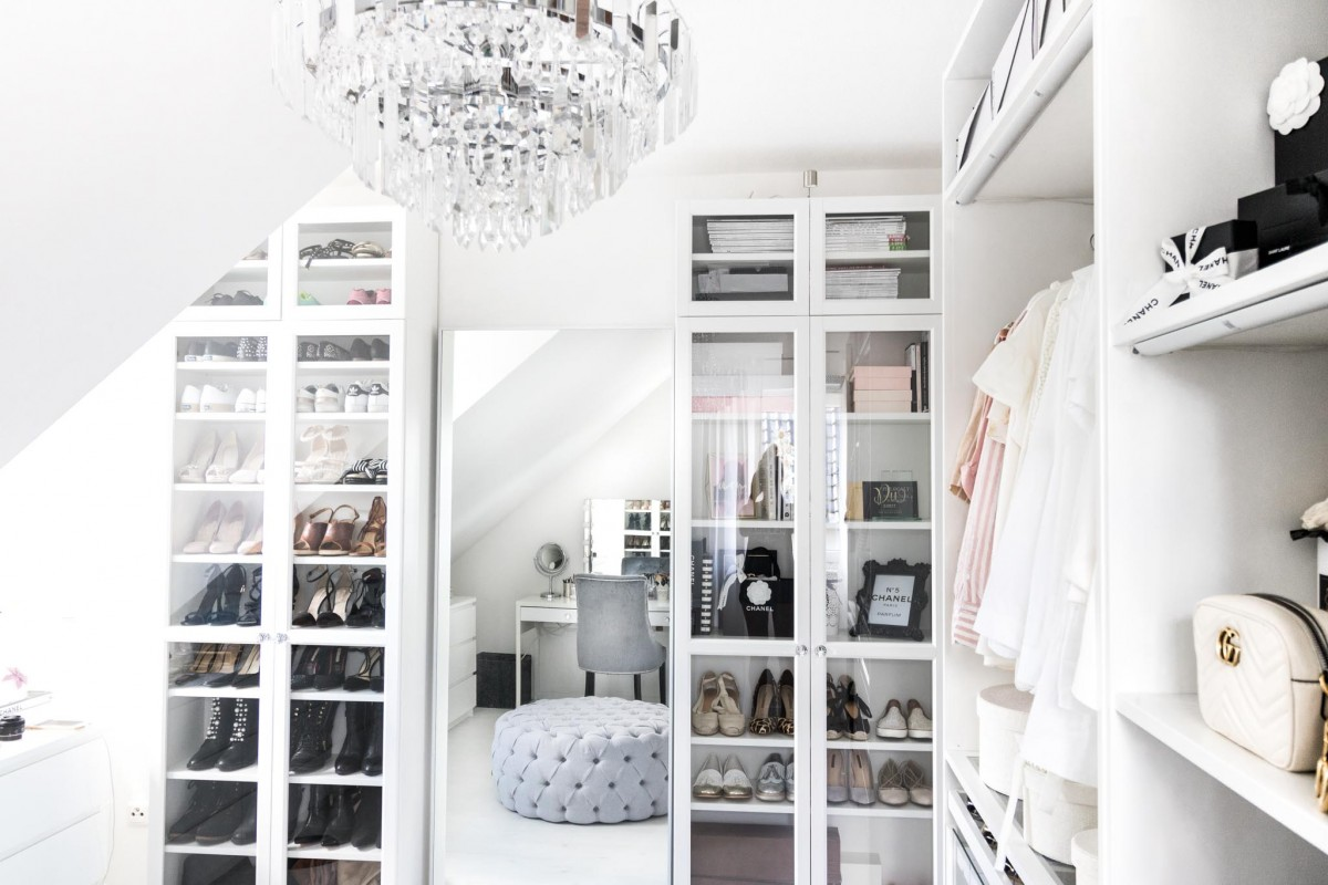 Ankleidezimmer, Ikea Pax, Walk in Closet, Closet, Wardrobe, Dressing Room, Closet Tour, My Philocaly