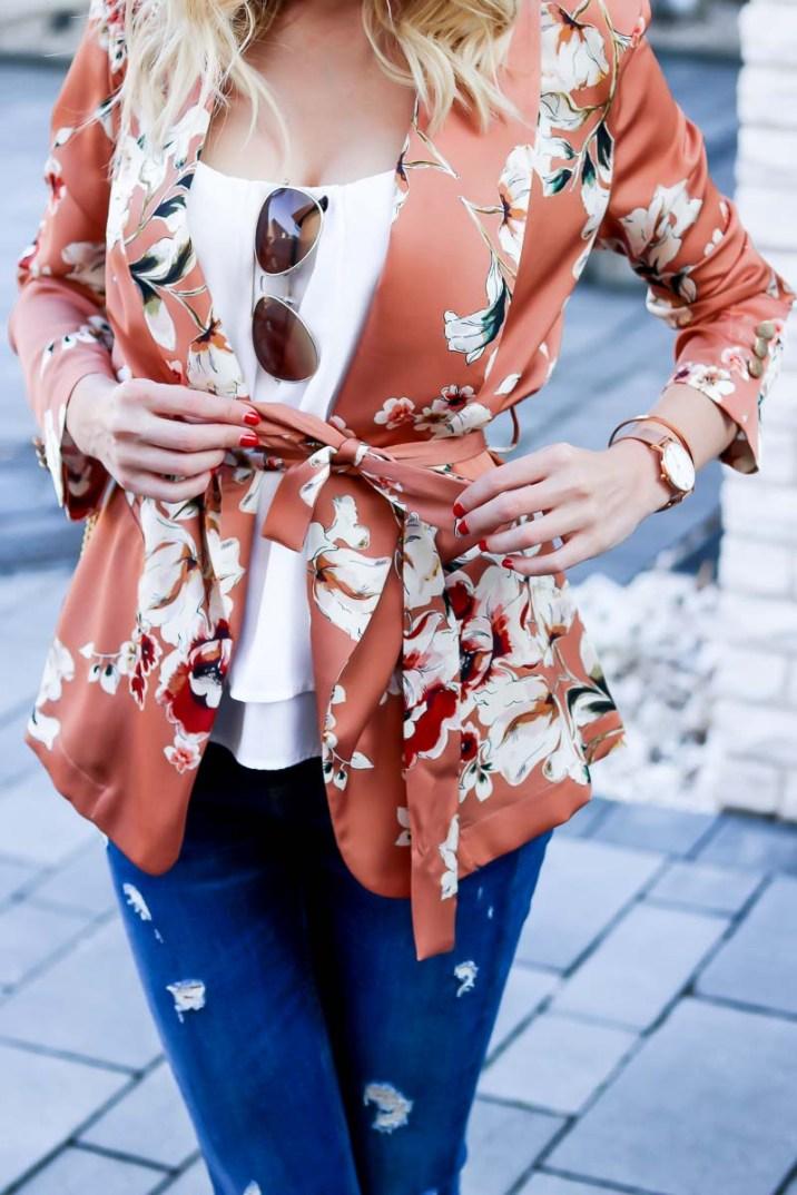 Spring into Summer - Floral Kimono Blazer-16