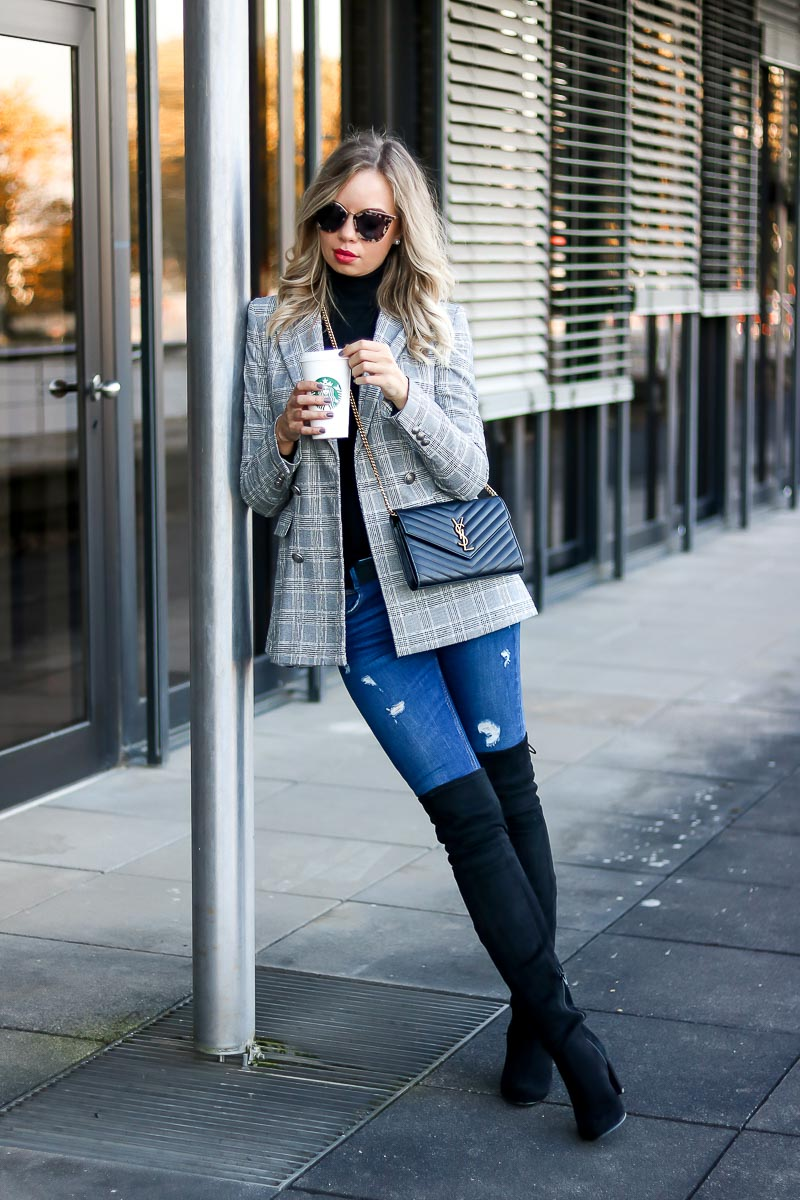 Glencheck Trend Outfit Inspiration YSL Bag