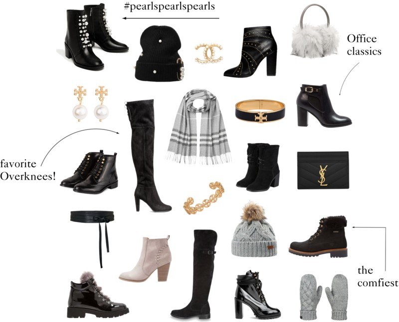 Product collage shoes and accessories