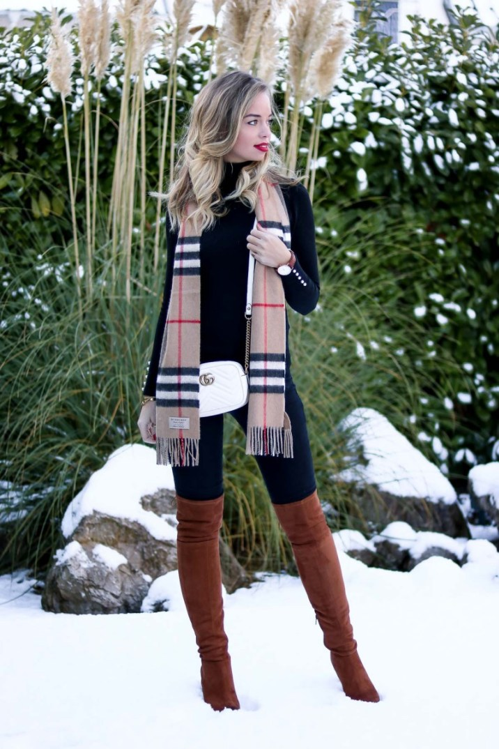Dreaming of a white Christmas Burberry Scarf Outfit-2