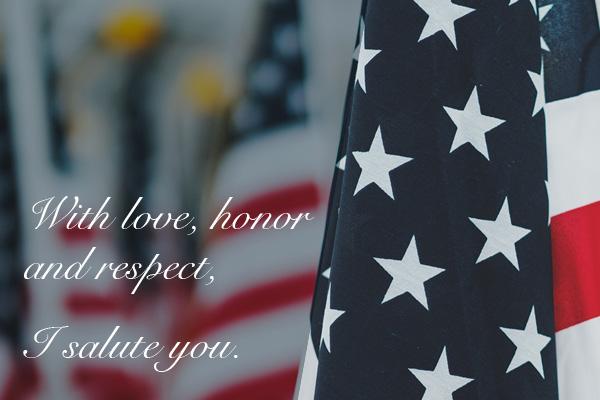 I salute you.