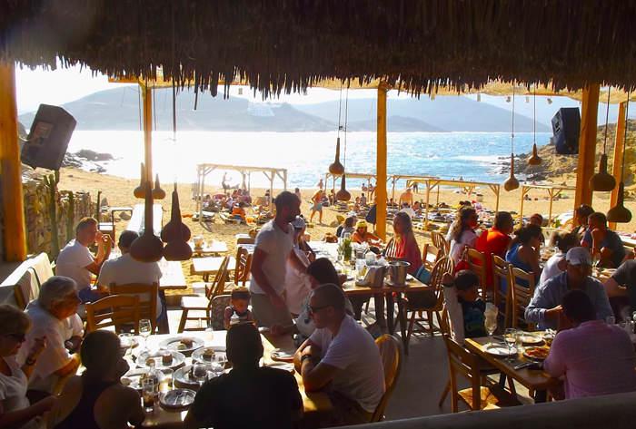 Alemagou Beach Bar Restaurant in Ftelia - Mykonos