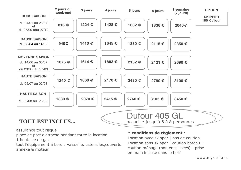 tarifs location voilier dufour var port des embiez provence cote azur corse