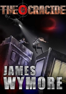 """Cover of """"Theocracide"""" by James Wymore."""