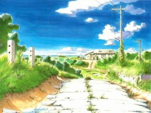 """Typical idyllic scene from """"Yokohama Kaidashi Kikou"""" by Hitoshi Ashinano."""