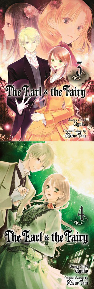 "Covers of volumes 3-4 of ""The Earl and the Fairy"" by Ayuko."