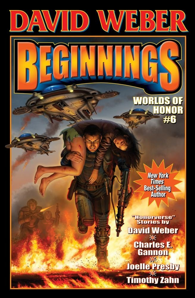 "Cover of ""Beginning: Worlds of Honor 6"" by David Weber."