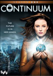 """Cover of the DVD release of """"Continuum"""" season 1."""
