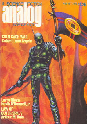 """Cover of August 1977 """"Analog"""", the issue which contains """"Ender's Game""""."""