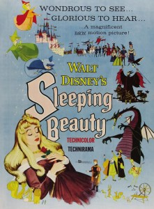 "Original theatrical poster for Walt Disney's ""Sleeping Beauty"" animated classic."