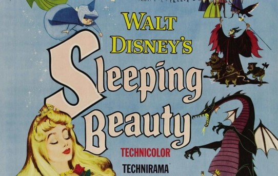 """Original theatrical poster for Walt Disney's """"Sleeping Beauty"""" animated classic."""